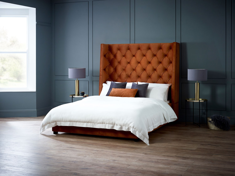 Living It Up Arthur Bed in Burnt Orange