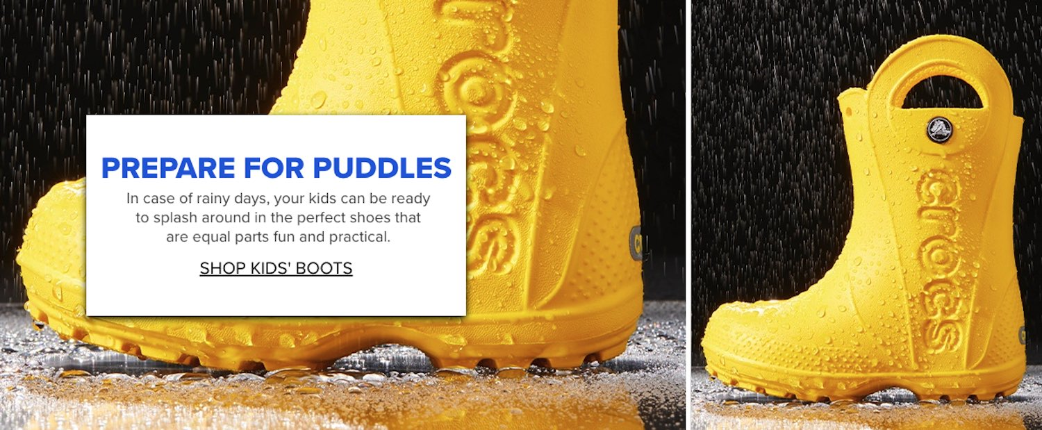 Puddles with Crocs