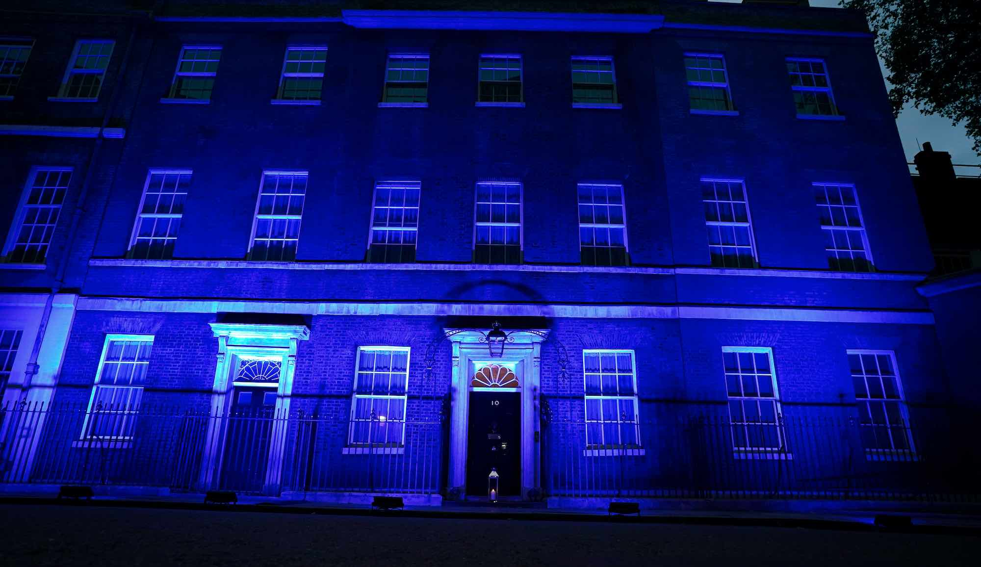 No10 Lit for NHS 72nd Anniversary